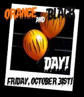 orange and black day
