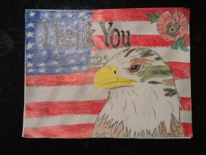 Brooke's beautiful drawing thanking a veteran.